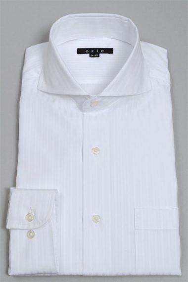 オジエの白シャツ 8070-V01A-WHITE