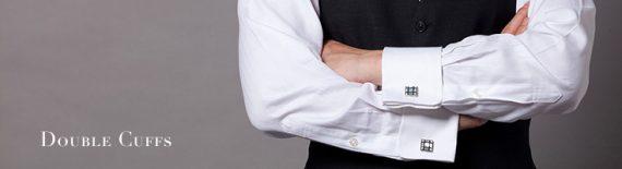 メンズダブルカフスシャツ