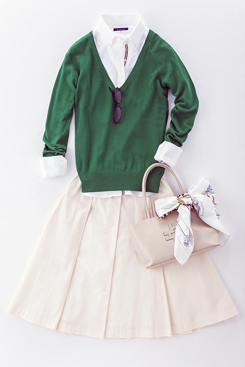 オジエ・レディース白シャツ 6274-A10-1-WHITE