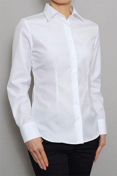 6271-1 レディースワイドカラー白シャツ