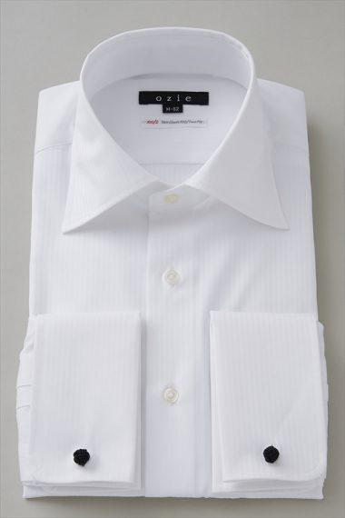 8088-I01A メンズ・ダブルカフスシャツ