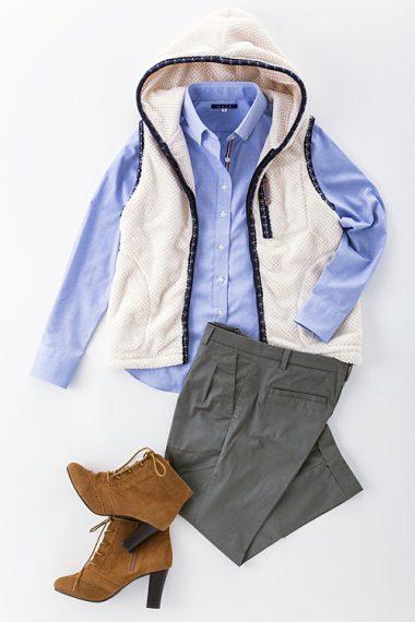 レディース・ボタンダウンシャツ | 6274-A10-2