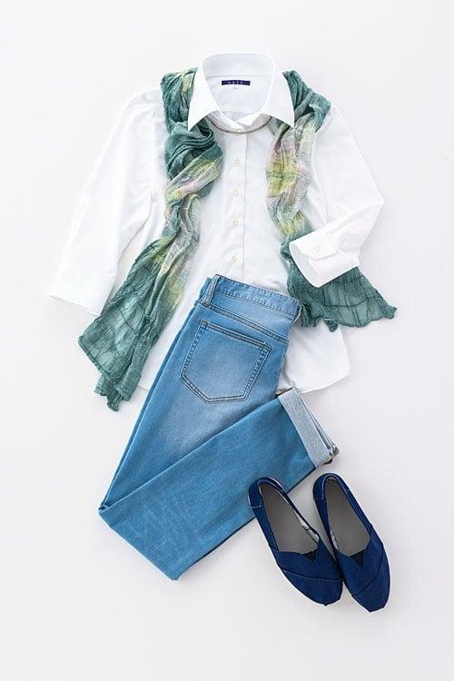 ozie|オジエ 6007-E03-1-WHITE- レディースニットシャツ