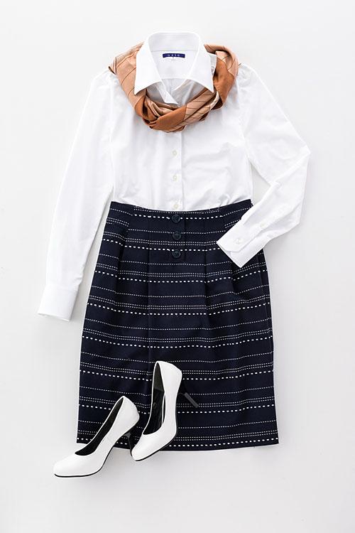 ozie|オジエ 6046-E03-1-WHITE- レディースニット長袖シャツ
