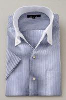 ozie|オジエ クールマックス半袖シャツ イタリアンカラー・ボタンダウン・クレリック・スキッパータイプ・第一ボタン無し