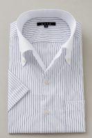 ozie|オジエ クールマックス半袖シャツ イタリアンカラー・ボタンダウン・クレリック・第一ボタンアリ
