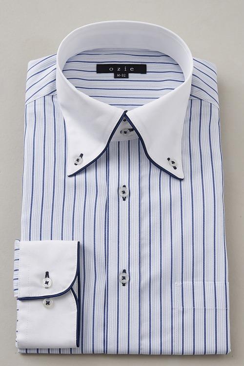 ozie|オジエ 8065EPCL-S10A-BLU ドゥエボットーニ・クレリックシャツ