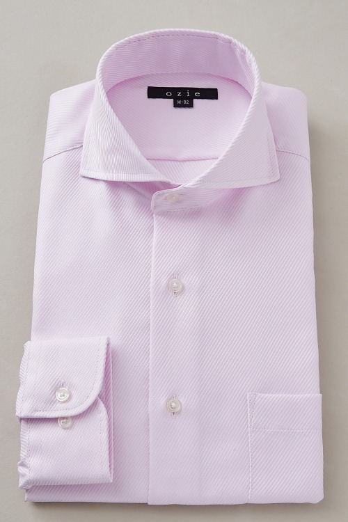 ozie オジエ 8070-S10C ホリゾンタルカラーピンクシャツ