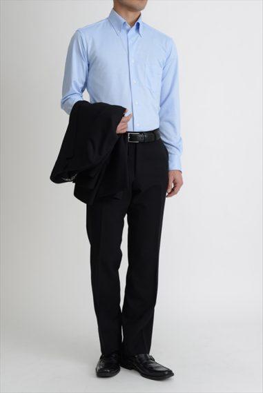 ozie|オジエ ビズポロニットシャツ 8013-G03D-SAX
