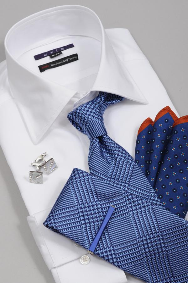 ozie|オジエ 8019-G12A 120番手双糸仕様白シャツ