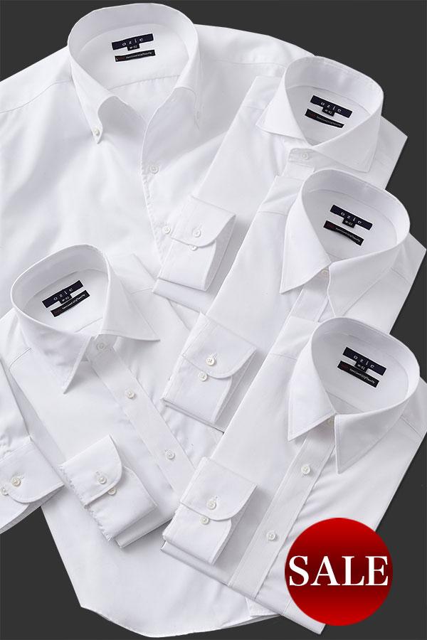 ozie|オジエ 8019-G12 120番手双糸シャツ 衿型5種類 セール