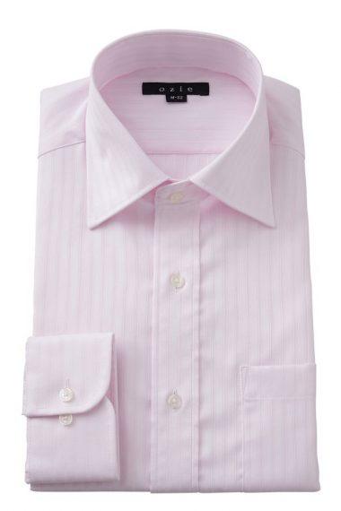 ozie|オジエ 8023-E08C-PINK ワイドカラーシャツ