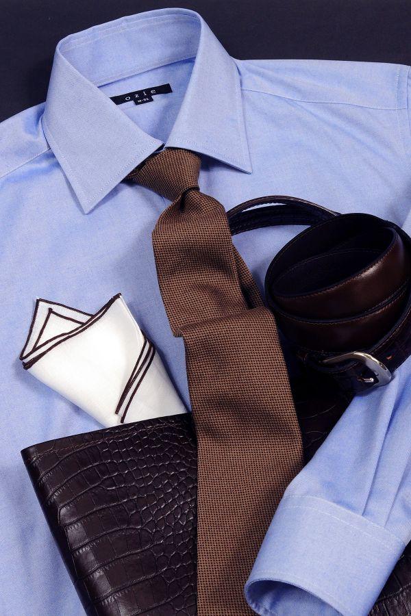 ozie|オジエ 8023-L09A-3 形態安定・ワイドカラーシャツ