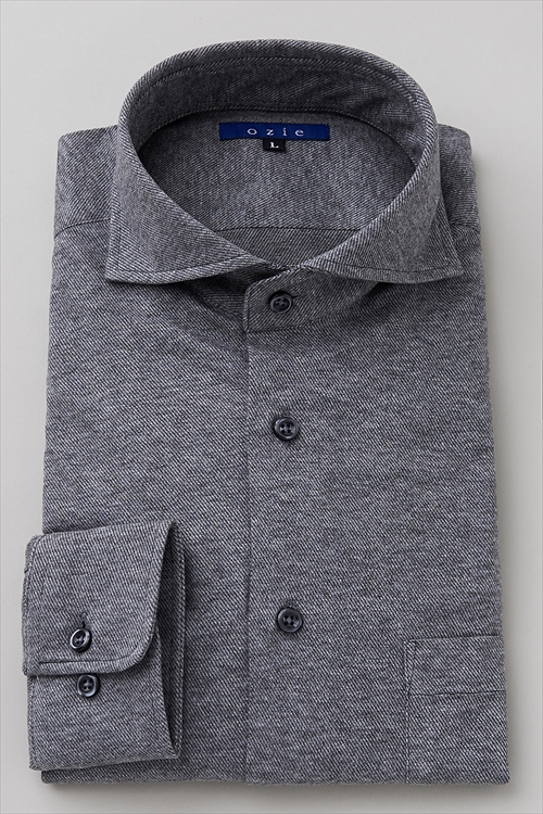 ozie|オジエ 衣装提供「あまんじゃく」唐沢寿明さん着用 8014C-F10A ニットフランネルシャツ