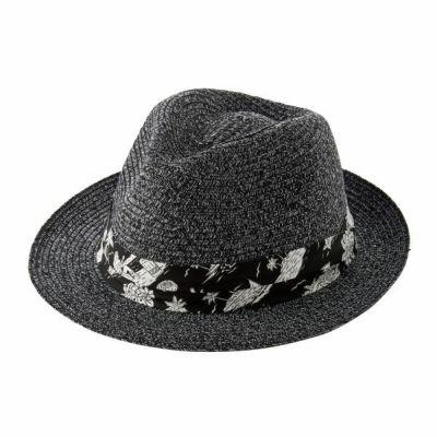ozie|オジエ HT-M-KEH1909-19-BLACK 【帽子】中折れハット・ブラック・日本製