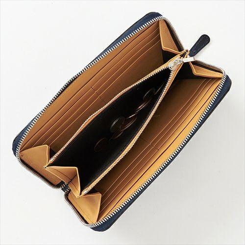 ozie|オジエ WL-A-003-NAVYBLUE 財布・コードバン・ネイビーブルー・日本製