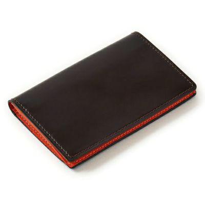 ozie|オジエ ブラウンのカードケース/名刺入れ、コードバン、秋のおすすめコーディネート CP-A-002-BROWN