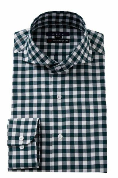 ozie|オジエ ギンガムチェックシャツ、秋のおすすめコーディネート 8070-e09c