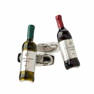 ozie|オジエ カフスボタン・カフリンクス・サイモンカーター・イギリス製・VINTAGE WINE・ワインボトル SI084