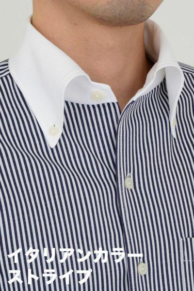 ozie|オジエ ビズポロ・ニットシャツ・イタリアンカラー