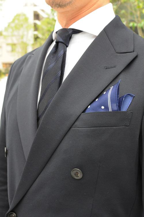 ozie|オジエ からみ織り生地シャツ+フレスコタイのコーディネート1