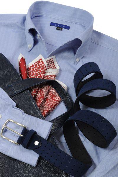イシャツ仕立ての ニットシャツコーデ・イタリアンカラー・8054-Y04C