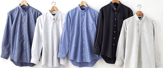 ozie オジエ スタンドカラーシャツ・イメージ写真2