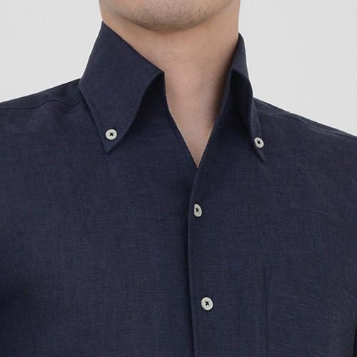 ozie オジエ イタリアンカラーのボタンダウンシャツ・スキッパータイプ