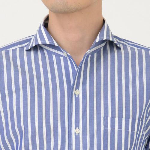 ozie オジエ イタリアンカラーのワイドカラーシャツ
